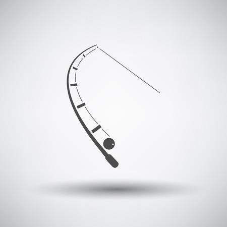 pesca: Icono de la pesca con los trastos sobre fondo gris. Ilustración del vector. Vectores
