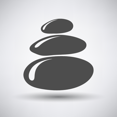 oriental medicine: Stack of spa stones icon over grey background. Vector illustration.