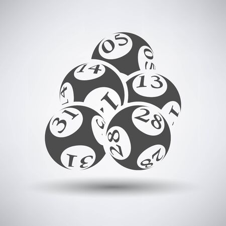 Lotto balls icon over grey background. Vector illustration.