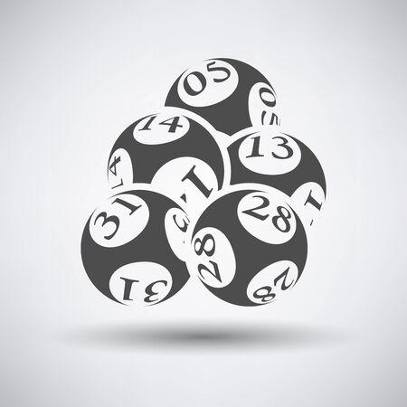 symbol sport: Lotto-B�lle-Symbol auf grauem Hintergrund. Vektor-Illustration. Illustration