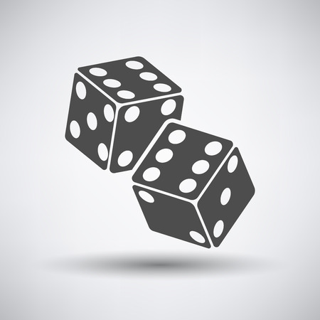clip art: Craps cubes icon over grey background. Vector illustration.