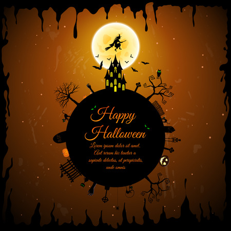 night owl: Happy Halloween Greeting Card.