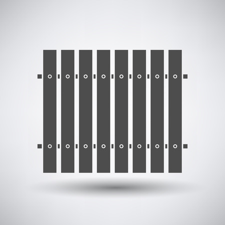 paling: Construction fence  icon on gray background with round shadow.