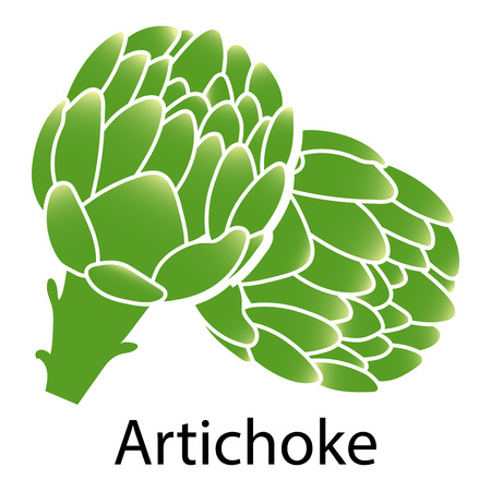 artichoke: Artichoke icon on white background. Vector illustration.