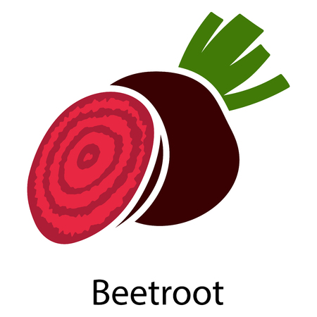 Beetroot icon on white background. Vector illustration.