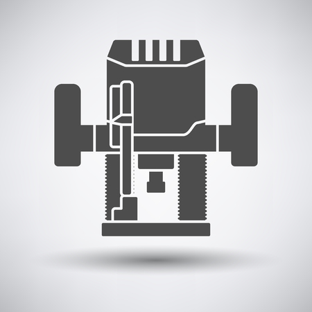 cutter: Plunger milling cutter icon on gray background with round shadow. Vector illustration.