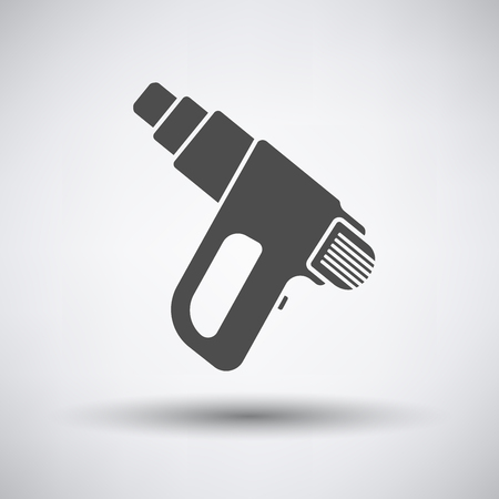 electric dryer: Electric industrial dryer icon on gray background with round shadow. Vector illustration.