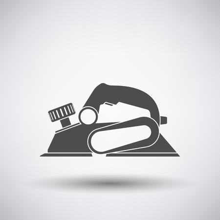 planos electricos: icono de cepillo eléctrico en fondo gris con la sombra redonda. Ilustración del vector. Vectores