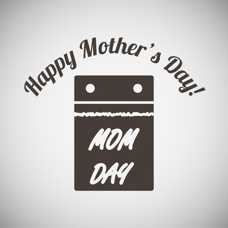 calendar day: Mothers day emblem with calendar. Vector illustration.