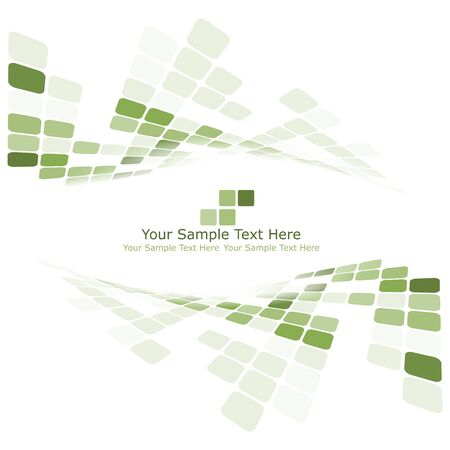 balanced: Checkered background with text space. Ideal balanced colors in green tone. Suitable for creating business, technological and other designs. Vector illustration. Illustration
