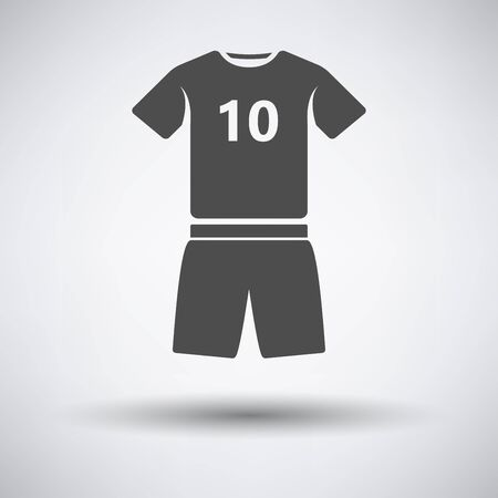 soccer uniform: Soccer uniform icon on gray background with round shadow. Vector illustration. Illustration