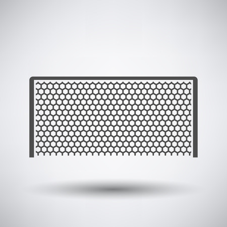 net: Soccer gate icon on gray background with round shadow. Vector illustration.