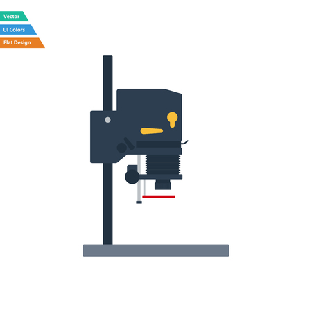 Flat design icon of photo enlarger in ui colors. Vector illustration.