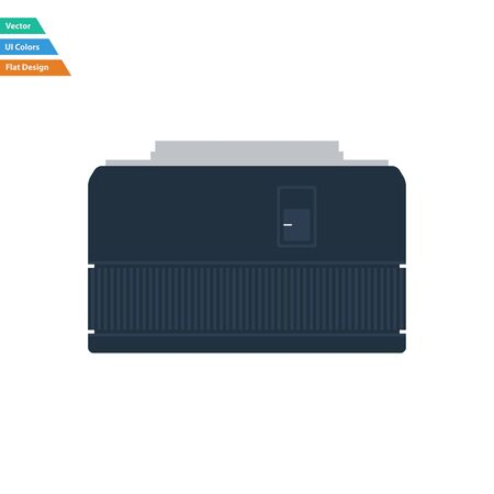stabilizer: Flat design icon of photo camera 50 mm lens in ui colors. Vector illustration. Illustration