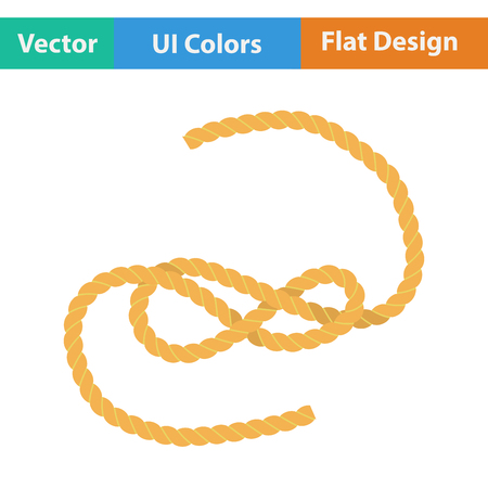 Flat design icon of rope in ui colors. Vector illustration.