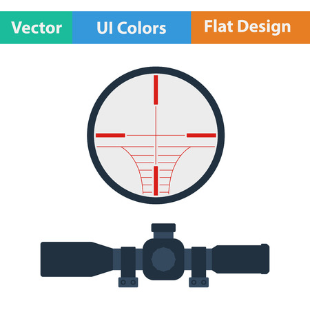 Scope: Flat design icon of scope in ui colors. Vector illustration. Illustration