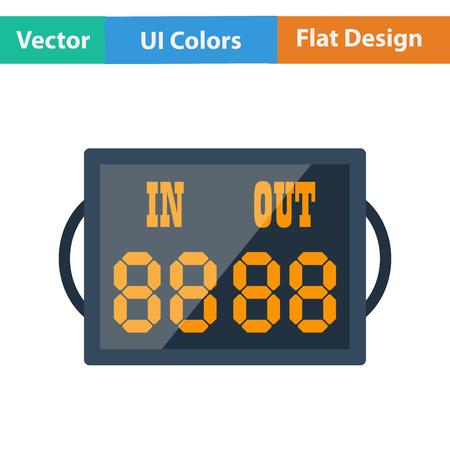 football referee: Flat design icon of football referee scoreboard in ui colors. Vector illustration. Illustration