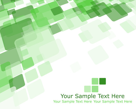 green: Abstract green checkered pattern from rectangles. Vector illustration.