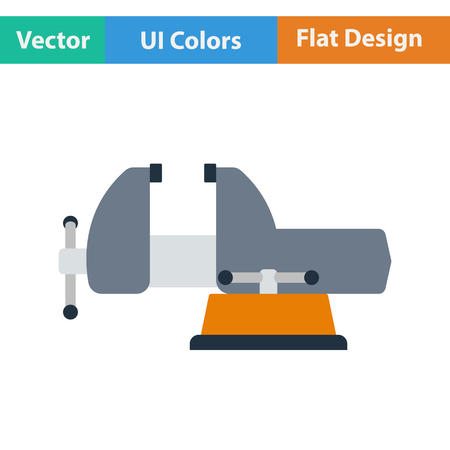 vise: Flat design icon of vise in ui colors. Vector illustration. Illustration