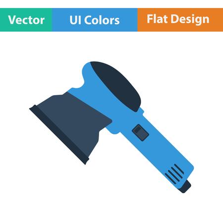 angle grinder: Flat design icon of grinder in ui colors. Vector illustration.