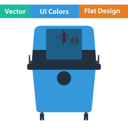 dirty carpet: Flat design icon of vacuum cleaner in ui colors. Vector illustration. Illustration