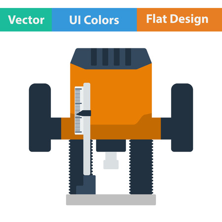 machining: Flat design icon of plunger milling cutter in ui colors. Vector illustration. Illustration