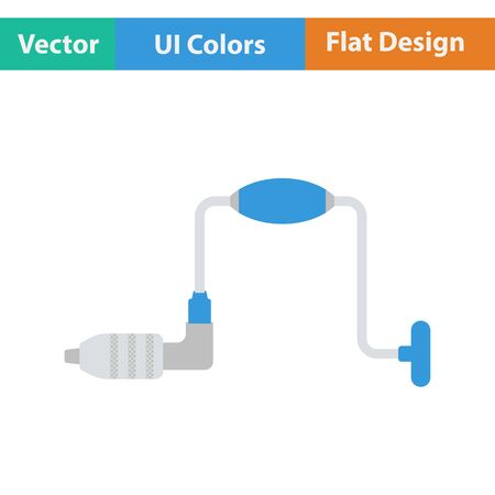 auger: Flat design icon of auge in ui colors. Vector illustration.