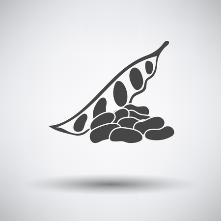tasteful: Beans  icon on gray background with round shadow. Vector illustration.