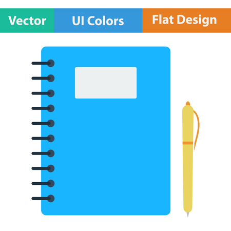 exercise book: Flat design icon of Exercise book in ui colors. Vector illustration. Illustration