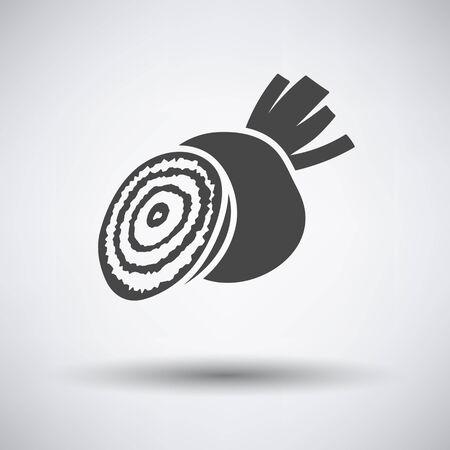 Beetroot  icon on gray background with round shadow. Vector illustration. Illusztráció