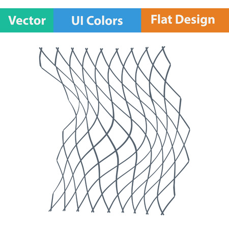 fishing net: Flat design icon of Fishing net  in ui colors. Vector illustration. Illustration