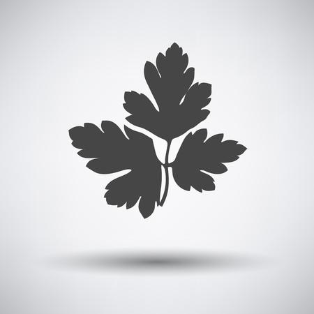 Pietruszka ikony na szarym tle z cienia okrągłego. ilustracji wektorowych.