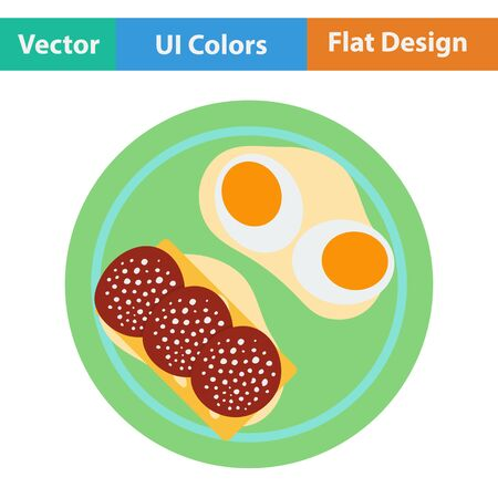 omlet: Omlet and sandwich icon. Vector illustration.