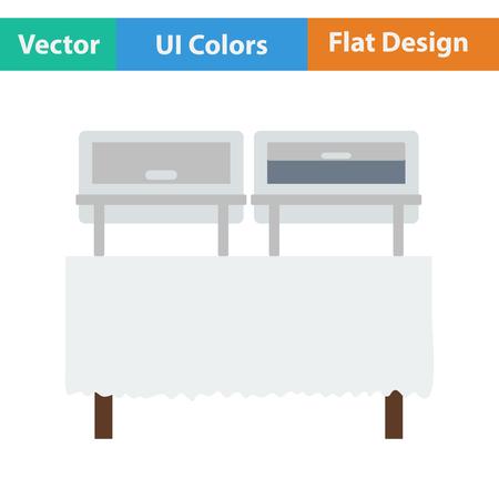 warmer: Chafing dish icon. Vector illustration.