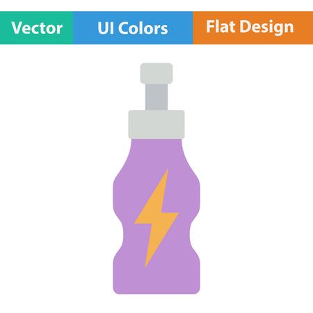 energy drinks: Flat design icon of Energy drinks bottle in ui colors. Vector illustration.