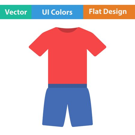 pant: Flat design icon of Fitness uniform  in ui colors. Vector illustration. Illustration