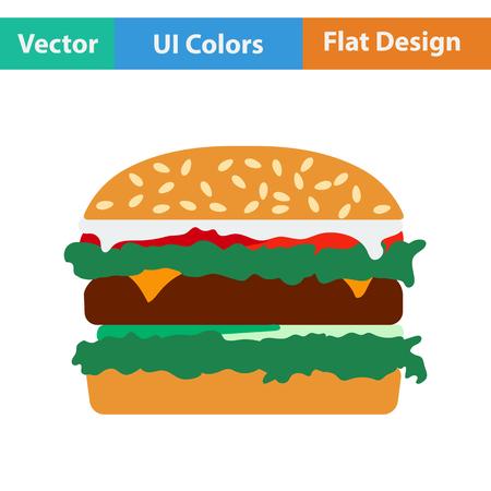 mustard seed: Hamburger icon. Vector illustration.