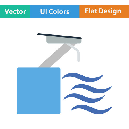 diving platform: Diving stand icon. Vector illustration.