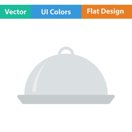 cloche: Restaurant  cloche icon. Vector illustration.