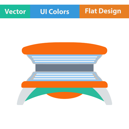 solarium: Flat design icon of Solarium in ui colors. Vector illustration.
