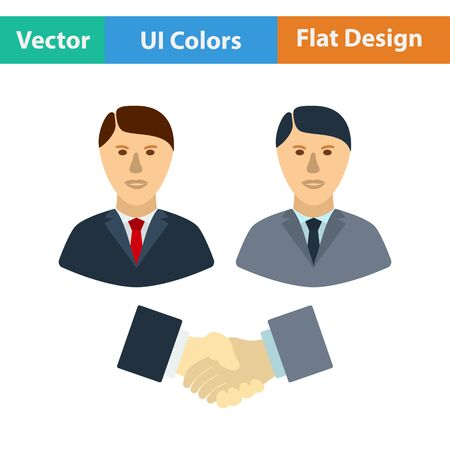 office manager: Hand shake icon. Vector illustration.