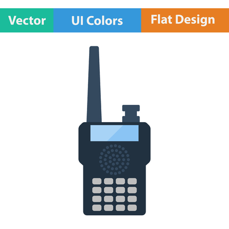 portable radio: Portable radio icon. Flat design. Vector illustration. Illustration