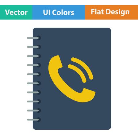 phone book: Phone book icon. Flat design. Vector illustration.