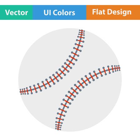 Baseball ball icon. Flat design. Vector illustration. Illustration