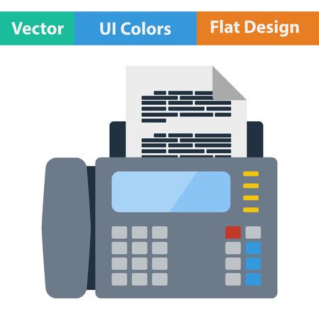 Fax icon. Flat design. Vector illustration.