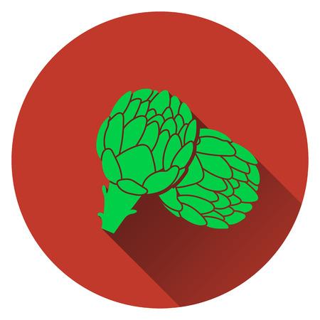 artichoke: Artichoke icon. Flat design. Vector illustration. Illustration