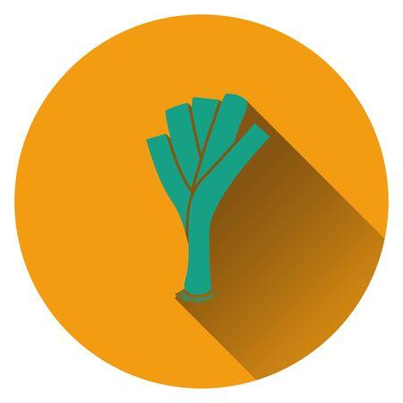 leek: Leek onion icon. Flat design. Vector illustration.