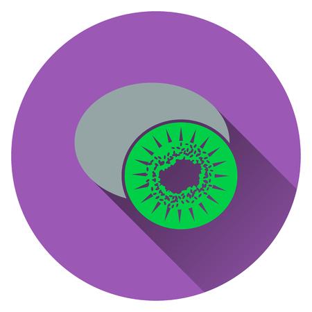 actinidia deliciosa: Kiwi icon. Flat design. Vector illustration. Illustration