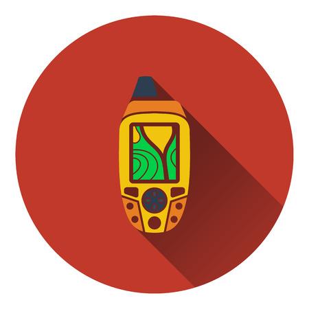 waypoint: Portable GPS device icon. Flat design. Vector illustration. Illustration
