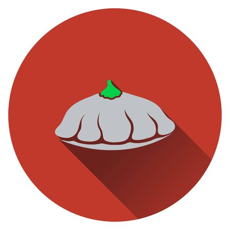 bush: Bush pumpkin icon. Flat design. Vector illustration. Illustration